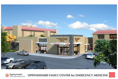 Rendering of new emergency department at French hospital.