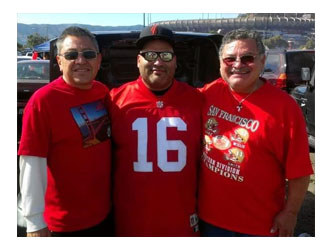 Gerson with his family at a Forty Niner game