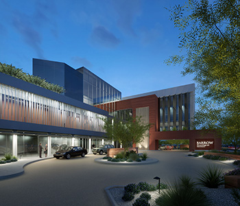 Rendering of a new entrance at Barrow Neurological Institute.