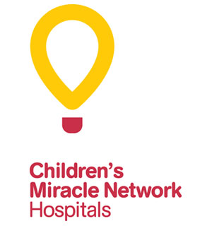 Logo for Children's Miracle Network Hospitals showing stylized balloon graphic
