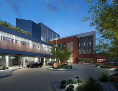 Rendering of Barrow Neurological Institute building
