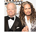 Celebrity Fight Night founder Jimmy Walker poses with Steven Tyler of Aerosmith