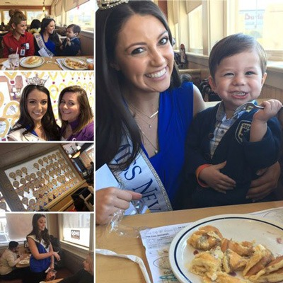 Miss Nevada and St. Rose Dominican patients fill up on pancakes at IHOP